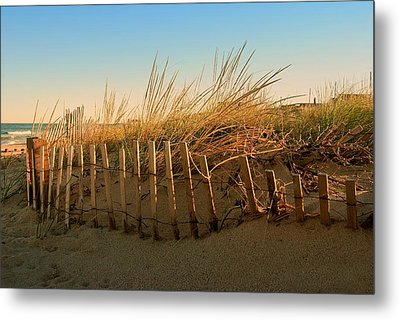 Sand Dune In Late September - Jersey Shore Metal Print