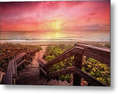 Metal Print featuring the photograph Sand Dune Morning by Debra and Dave Vanderlaan