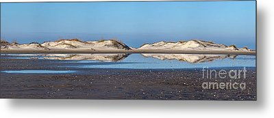 Sand Dune Reflections On The Outer Banks Metal Print by Dan Carmichael