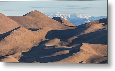 Sand Dunes And Rocky Mountains Panorama Metal Print by James BO Insogna