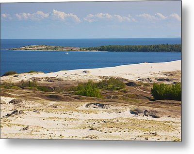 Sand Dunes At The Coast, Parnidis Dune Metal Print