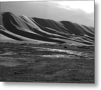 Sand Dunes Of The Gobi Metal Print by Diane Height
