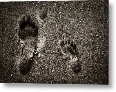 Metal Print featuring the photograph Sand Feet by Lora Lee Chapman