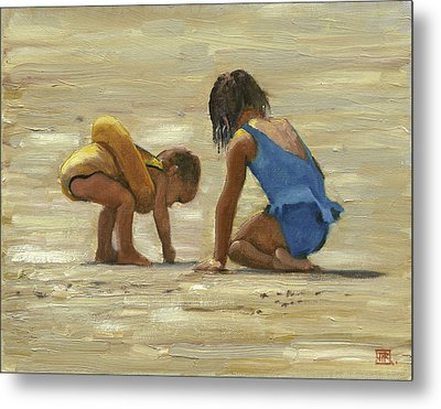 Sand Play Metal Print by John Reynolds