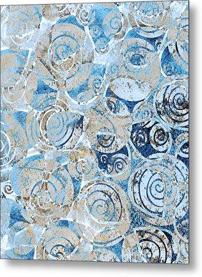 Sand, Sea And Seashells Metal Print