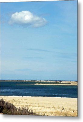 Metal Print featuring the photograph Sand Sea And Sky by Brooke T Ryan