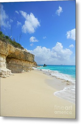 Sand Sea And Sky Metal Print by Expressionistart studio Priscilla Batzell
