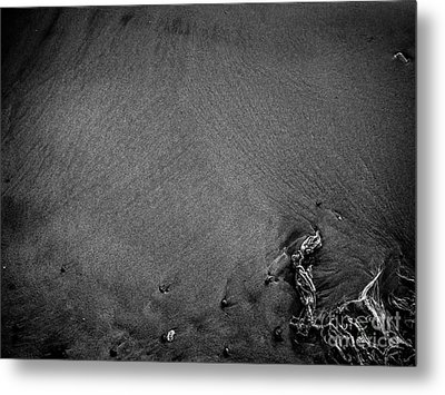 Sand, Stones, And String Metal Print