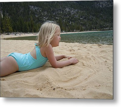 Metal Print featuring the photograph Sand Sun And Someone You Love by Dan Whittemore