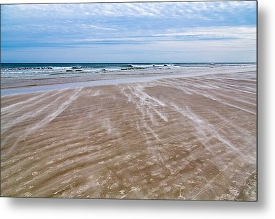 Metal Print featuring the photograph Sand Swirls On The Beach by John M Bailey