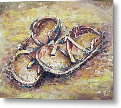 Sandals Metal Print by Aaron Spong