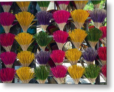 Sandalwood Incense Sticks Metal Print
