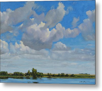 Sandbar Slough July Skies Metal Print