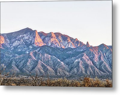 Sandia Gold Metal Print by Mark David Gerson