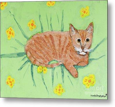 Sandie's Cat Metal Print