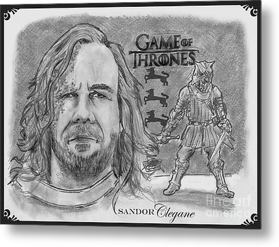 Sandor Clegane- The Hound Metal Print by Chris  DelVecchio