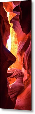 Metal Print featuring the photograph  Sandstone Collection 1 Ablaze by Brad Scott