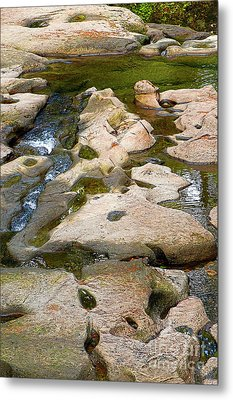 Metal Print featuring the photograph Sandstone Creek Bed by Sharon Talson