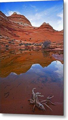 Sandstone Pools Metal Print by Mike  Dawson