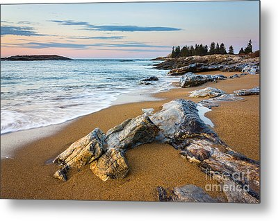 Sandy Beach At Reid Metal Print