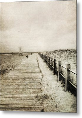 Sandy Beach Pathway - Milford Ct. Metal Print