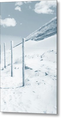 Metal Print featuring the photograph Sandy Dunes. Series Ethereal Blue by Jenny Rainbow