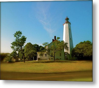 Metal Print featuring the photograph Sandy Hook Lighthouse by Iconic Images Art Gallery David Pucciarelli