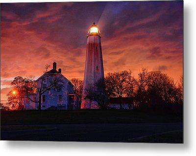 Sandy Hook Lighthouse Metal Print by Raymond Salani III