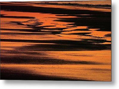 Sandy Reflection Metal Print