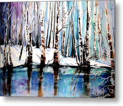 Metal Print featuring the painting Sandy River  by Marti Green