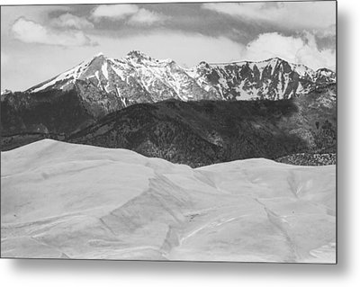 Sangre De Cristo Mountains And The Great Sand Dunes Bw Metal Print by James BO  Insogna