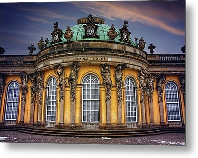 Sanssouci Palace In Potsdam Germany  Metal Print