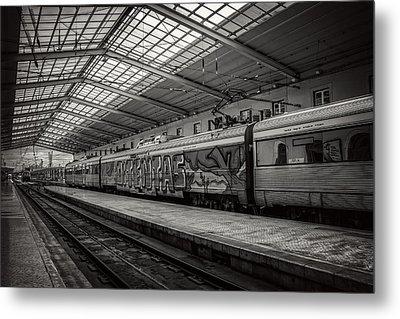 Santa Apolonia Railway Station Lisbon Metal Print
