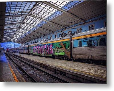 Santa Apolonia Train Station Lisbon Metal Print by Carol Japp