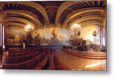 Santa Barbara Court House Mural Room Photograph Metal Print by Brian Lockett