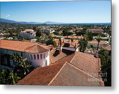 Santa Barbara From Above Metal Print by Suzanne Luft