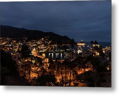 Santa Catalina Island Nightscape Metal Print by Angela A Stanton