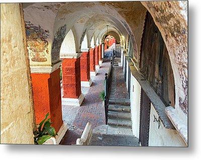 Santa Catalina Monastery Corridor Metal Print by Jess Kraft