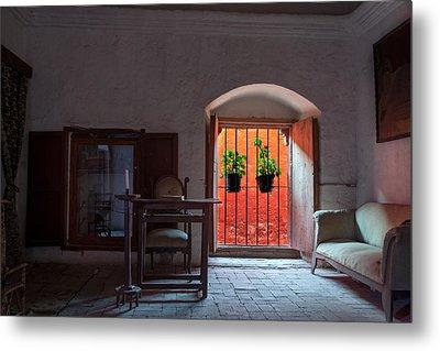 Santa Catalina Monastery Window Metal Print by Jess Kraft