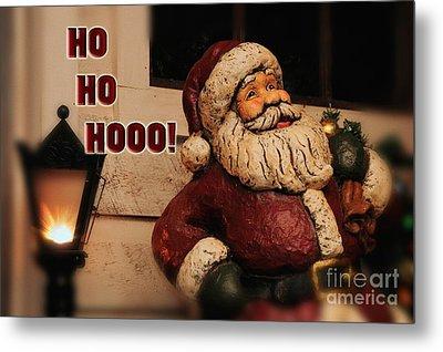 Santa Claus Christmas Card Metal Print by Lois Bryan