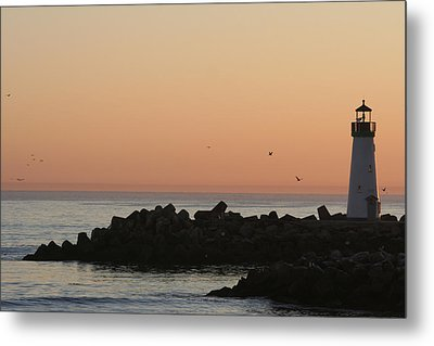 Santa Cruz Harbor Lighthouse Metal Print