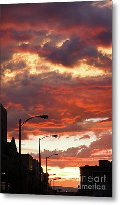 Santa Fe At Dusk New Mexico Metal Print by Julia Hiebaum