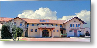 Santa Fe Depot In Amarillo Texas Metal Print