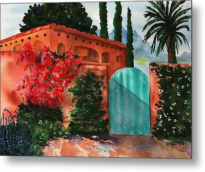 Santa Fe Dwelling Metal Print by Sharon Mick