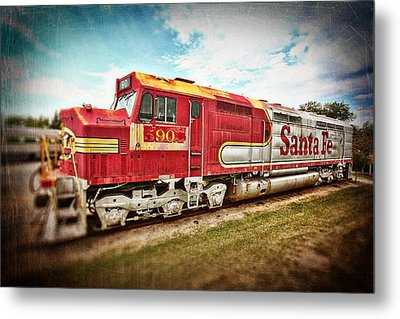 Santa Fe Locomotive Metal Print by Charrie Shockey