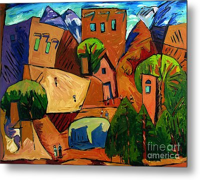 Santa Fe On My Mind Metal Print by Charlie Spear