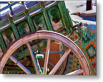 Metal Print featuring the photograph Santa Fe Spokes by Stephen Anderson