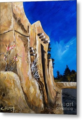 Metal Print featuring the painting Santa Fe Stroll by Chad Berglund