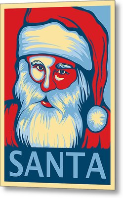 Santa Hope Metal Print by David Kyte