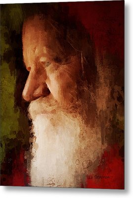 Santa Metal Print by Lisa Noneman